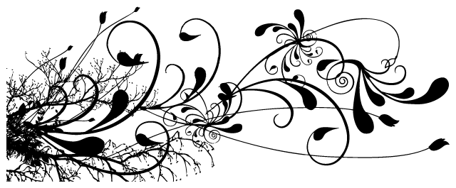 black-floral-swirl-tattoo-design